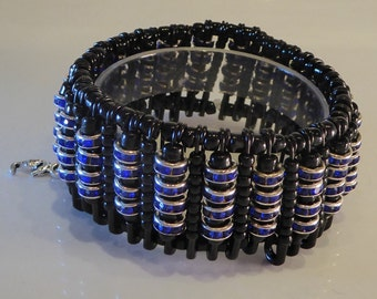 Upcycled Crystal Beaded Bracelet