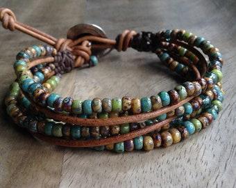 18 cm wrist,Bohemian bracelet boho chic bracelet hippie bracelet womens jewelry gift for her boho chic jewelry boho bracelet beaded bracelet