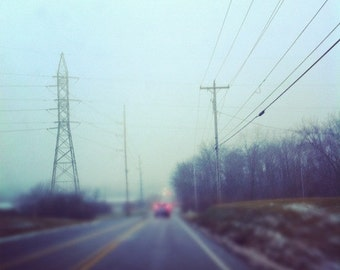 a foggy drive, fine art print