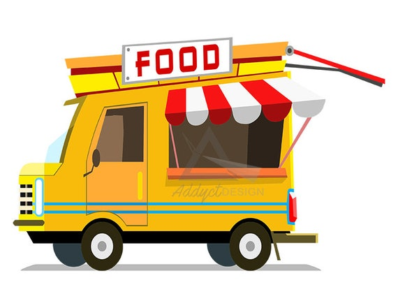 Food Truck Clipart Foodtruck Fast Fastfood Burger Design Logo Menu Organic Commercial Use
