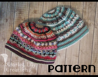 PATTERN - Stitch Sampler, Scrap Buster Crochet Hat