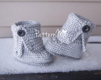 Crochet Baby Bootie Pattern PDF