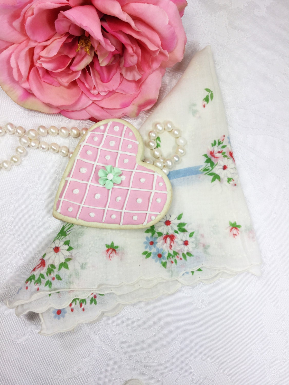 Dainty Floral Ladies Handkerchief, Something Old, Victorian ...