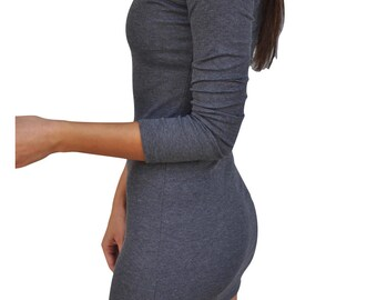 Grey Sheath Mini Dress