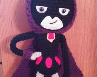 """Teen Titans """"Raven"""" Inspired Amigurumi Crochet Pattern"""