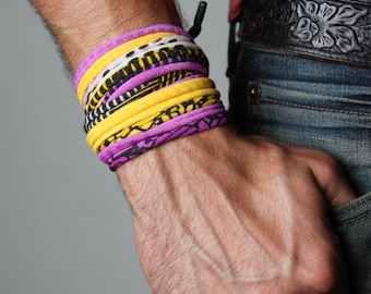 Bracelet Men, Neon Bracelet, Neon Jewelry, Burning Man, Boyfriend, Boyfriend Gift, Men Gifts, Wrap Bracelet, Mens Jewelry, Gift for Men