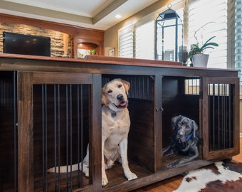 Plans To Build Your Own Wooden Double Dog Kennel Size Large