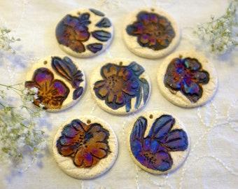 7 Ceramic Beads, Raku Beads,Destash Beads, Clay Beads, Focal Beads, Ceramic Beads, Handmade Beads, Artisan Beads, Pottery Beads (BTL34)