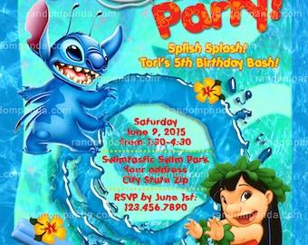 Personalize Lilo and Stitch Invitation Lilo and Stitch Party
