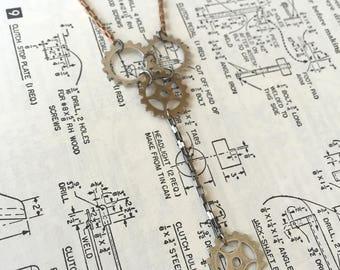 Gear Y-Necklace