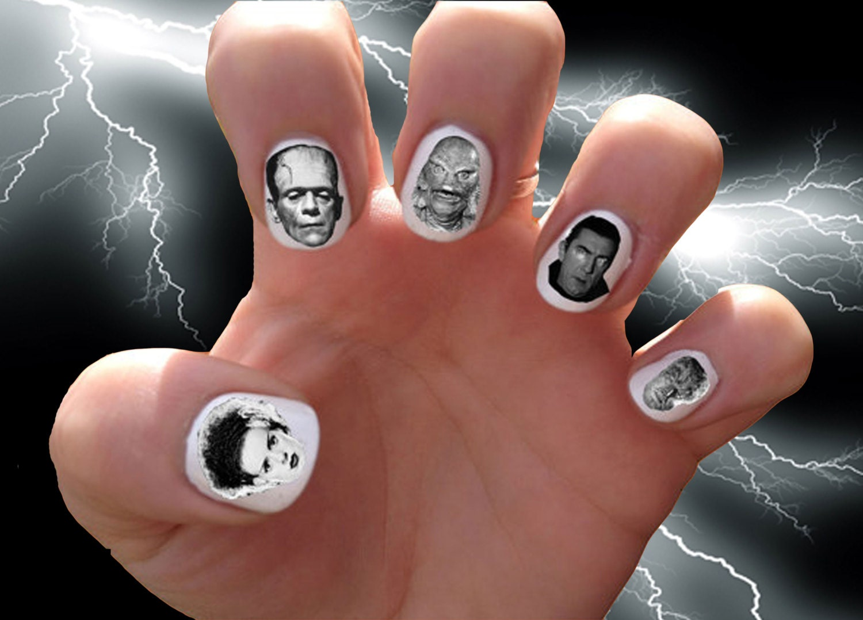 Modern Nail Decals Etsy Illustration - Nail Art Ideas - morihati.com