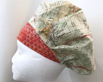 Scrub Hat, Scrub Cap, Surgical Scrub Hat, Surgical Scrub Cap, Food Service Hat, Chemo Cap, Bouffant Hat, Chemo Hat, Womens Scrub Cap