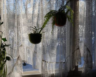 Lace flower curtain