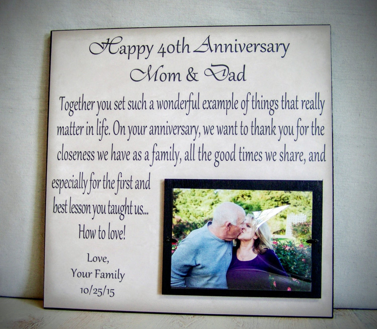 25 year wedding anniversary gift for parents