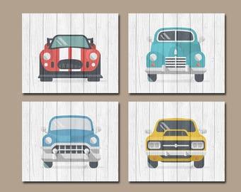 Classic CARS Wall Art, Baby Boy Nursery Art, Retro Cars, Vintage Antique  Cars