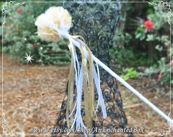 ANGEL GOLD Inspired Fairy Wand and Royal Scepter for Girls, Dressup and Flower Girl for Disney Theme Wedding, Christmas Pageant Play