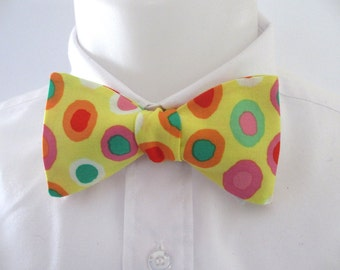 Men's Bowtie ~ not for the faint hearted ! bold and bright    -  necktie, tie, bowtie ~ choice of fitting options