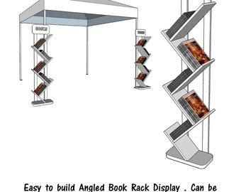Angled Book Rack Display    - PDF File - Woodworking - Blueprint -