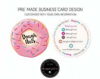 Circle Business Card Etsy - Circle business card template