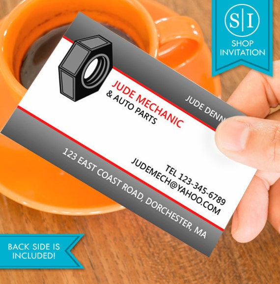 Auto repair business card free shipping from shopinvitation on auto repair business card free shipping from shopinvitation on etsy studio colourmoves