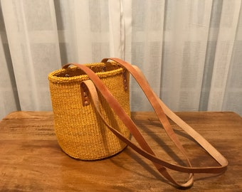 Hand woven Kenyan handbag