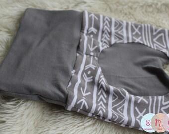 Grey Tribal Maxaloones - Maxaloones - Cloth Diaper Pants - Neutral Baby - Made to Order
