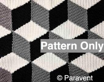 Crochet Isometric Blanket / Afghan Pattern