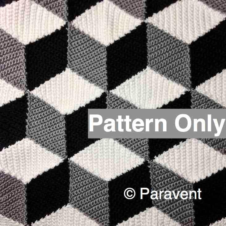 Crochet isometric blanket afghan pattern zoom dt1010fo