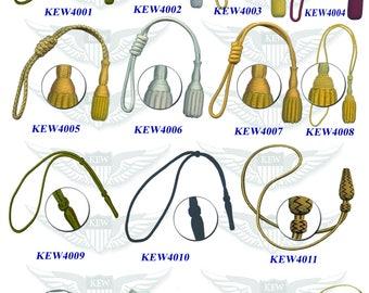 Custom made sword knot for military, army, navy airforce, police,bullion wire,silk thread,mylar thread, MADE TO ORDER