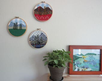 Mountain Series | Hand Embroidered Hoop Art