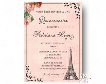Burlap and lace quinceanera invitation quinceanera invites paris quinceanera invitation quinceanera invitation printable quinceanera invitations parisian quinceanera invites sweet solutioingenieria Choice Image