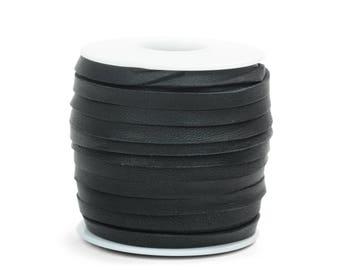 Black Deerskin Lacing - (1) 50 foot spool, 3/16th inch lace.  Deerskin lace. (297-316x50BL)