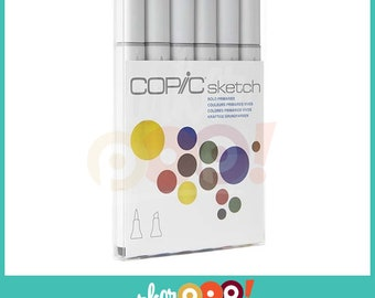 Copic Sketch Marker Set 6 Bold Primaries
