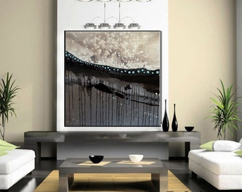 SALE  Large Mixed Media Abstract Contemporary Painting
