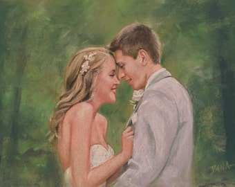 Custom Portrait in Pastel from your photo