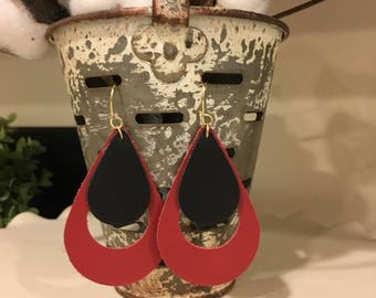 """Custom """"Jenne"""" style handcrafted leather earring"""