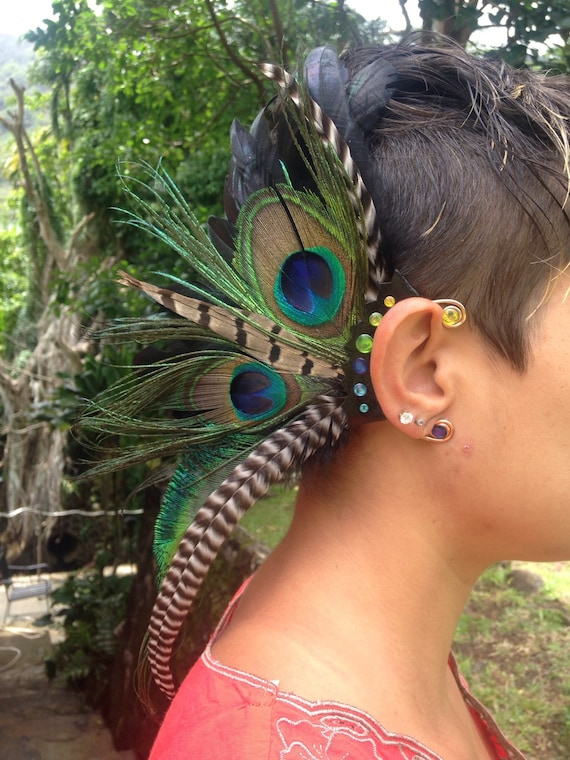 Made to Order: Blissful and Free - Customizable Feather Ear-Wing / ear cuff / ear hawk