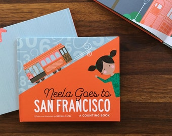 Neela Goes to San Francisco: Counting Children's Book