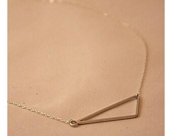 Necklace asymmetrical triangle