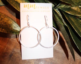 Silver Hoop Earrings | Silvee Hoops, Hoop Earrings, Silver Earrings, Silver Statement Earrings, Simple Hoops, Thin Hoops