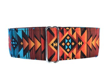 Tribal Martingale Collar, Tribal Dog Collar, Wide Dog Collar, Aztec Martingale Collar, Southwest Martingale, Aztec Dog Collar, Large Dog