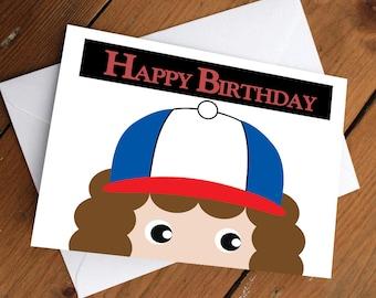 STRANGER THINGS- DUSTIN // happy birthday, love, friendship, cute, greeting card, netflix, eleven