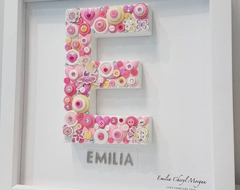 New Baby Personalised Initial Frame.
