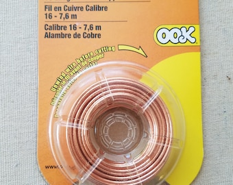 16 Gauge Raw Copper Wire 25ft