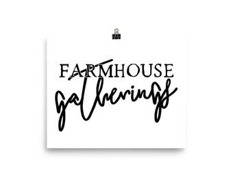 "Home Decor Ready to Frame Poster Print ""Farmhouse Gatherings"""