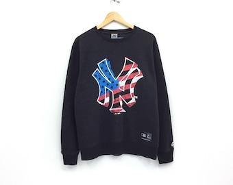 New York Baseball Sweatshirt Embroidery New York Big Logo GOk6E