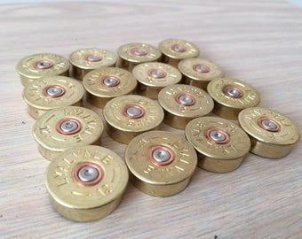 50 x Shotgun Cartridge 12 Gauge BRASS END CAPS