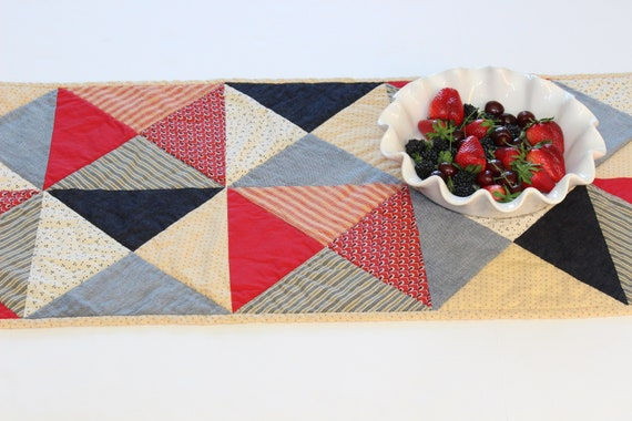 Americana Quilted Farmhouse Table Runner
