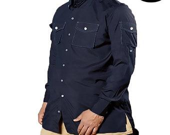 Shirt Oversize navy- Mouhajiroun