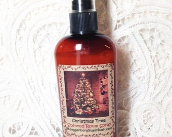 Room Sprays, Christmas Tree, Pine, room freshener, primitive room sprays, teacher gift, 4 oz bottle, teacher gift, Moeggenborg Sugar Bush